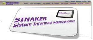 SINAKER, Aplikasi Pelayanan Informasi Kerja